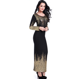 Wholesale Bubbles Show - Self cultivation long sleeves dress reality show gilding bubble cotton round collar elastic waist big swing camouflage skirt
