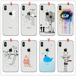 Чехол для телефона для iPhone 5 5S 6 6S 7 8 Plus X милая панда жираф кит слон глаз мягкий тпу силиконовый гель задняя крышка Coque Fundas + протектор cheap giraffe iphone от Поставщики жираф iphone