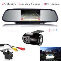 hd tft lcd display Sconti Car Monitor Mirror TFT LCD Display Car DVR Camera Dash Cam Videocamera DVR nascosta con telecamera posteriore con monitor Parcheggio