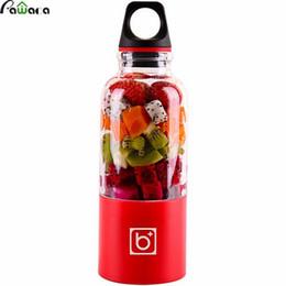 Wholesale automatic juicers - 500ml Portable Juicer Cup Usb Rechargeable Electric Automatic Bingo Vegetables Fruit Juice Maker Cup Blender Mixer Bottle