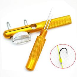 Инструмент для снятия рыболовных крючков онлайн-Металлический рыболовный крючок для завязывания крючков и петель для крючков с крючками