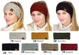 Wholesale Winter Ear Warmer Headband - 17 Colors Women CC Knitted Headband Winter Ear Warm Headwrap Hair band Knitting Crochet Turban Hair band Accessories