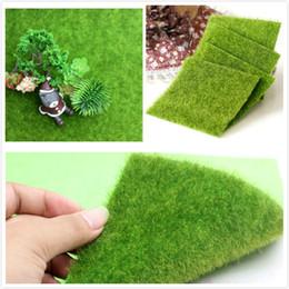 tappeto erba verde Sconti Creativo Artificiale Micro Paesaggio Erba Mat Verde Prati 15x15 cm Ornamentale Tappeto Muschio Tappeti Casa Giardino Piano Nursery Decorazioni