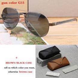 flache schutzbrillen Rabatt Neue Marke Design Flat Top Legierung Rahmen Sonnenbrille Männer Mode Angeln Drive Polarisierte Gläser Hohe Qualität Brille 8307