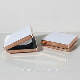 Wholesale Case Bb - White Empty Air Cushion Foundation Box, DIY Cosmetic CC BB Cream Refillable Container, Square Elegant White Cream Case Compact