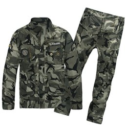 Hommes costume uniforme militaire en Ligne-En plein air 101 Airborne Division Vêtements Camouflage Costume de Chasse pour Hommes US Army Combat Uniformes Tactique Veste + pantalon
