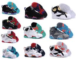 Barato niños 7 zapato de bebé Venta en línea Zapatillas de baloncesto para niños Chicas Niños Babys Cat Zapatos deportivos auténticos Zapatillas de deporte Tamaño 28-35 desde fabricantes