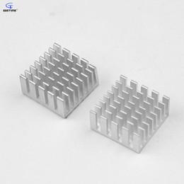 Wholesale Ram Graphics - 12pcs 20x20x10mm Aluminum Heatsink with 3M Thermally Conductive Adhesive Tape VGA RAM Memory Cooling Cooler Heat Sink 10mm