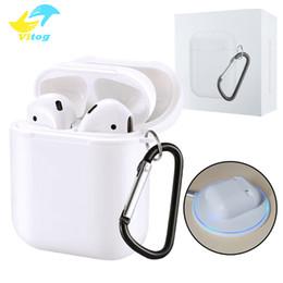 Qi wireless ladegerät empfänger apfel online-Wireless Charging Receiver Case Für Apple Airpods Fallabdeckung QI Standard Airpods Wireless Ladegerät Empfänger mit Paket