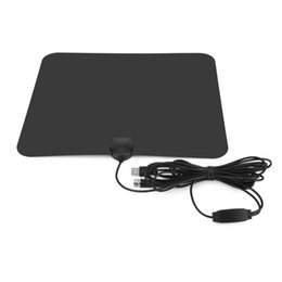 Wholesale Long Range Antennas - TV Antenna Indoor HD Digital ATSC TV Antenna with 80 Miles Long Range Signal Booster VHF UHF with 10ft Cables