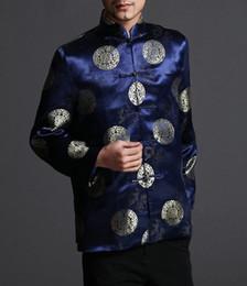 Blazer de chaqueta azul clásico de Tai Chi Kungfu azul - Mezcla de seda ligera # 205 desde fabricantes