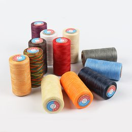 Бисер шить онлайн-260m Waxed Thread Cotton polyester Hand Knitting String Strap Necklace Rope Bead Sewing Craft for Leather Caft Stitching 0.8MM
