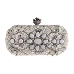 2e8cc00c2 Juego de bolsos pequeños de perlas Bolsos de fiesta de cenas de diamantes  Bolsos de mano de novia de cadenas de moda europeo y americano