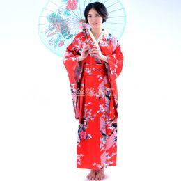 Trajes nacionais tradicionais on-line-Kimono japonês tradicional vestido de cosplay feminino yukata mulheres haori Japão geisha traje obi nacional vestido TA480