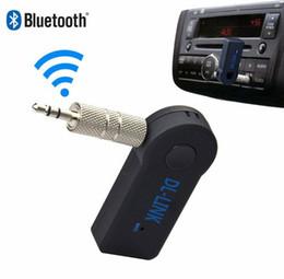 2019 articulaciones doradas Receptor Bluetooth del coche inalámbrico manos libres Música 3.5mm AUX Audio estéreo de música con micrófono envío gratis con embalaje al por menor