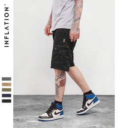 Wholesale Fit Cargo Shorts - 2018 fashion new INFLATION Men's Cotton Loose Fit Multi Pocket Cargo Shorts