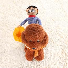 costumes de chien drôles Promotion Costume d'équitation pour chien Vêtements pour animaux domestiques Vêtements pour animaux de compagnie Cow-Boy Cheval Équitation Vêtements Costume de chien Nouveauté Drôle Fête de chat Vêtements Drôle