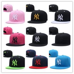 Wholesale casual order - 2018 Fashion NY Baseball Caps 24 Colors Peaked Cap New Adjustable Snapbacks Sport Hats Free Drop Shipping Mix Order