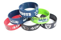 Wholesale rugby day - New goods! 50 rugby team leather bracelet, 6 different colors can be selected, 100% pure leather.