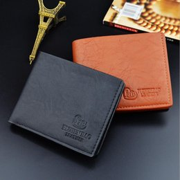 photo printing free prints Coupons - Hot Sale Wallets Brand new Mens High Quality Leather Wallet Pockets Card Clutch Purse retro men's leather brief Purse Free Ship