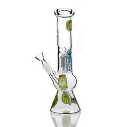 bong gourd Promo Codes - New Smoking Man Cartoon Gourd Pot Bong Straight Glass Bongs Dab Rig Slanting Rob Glass Bongs Free Shipping