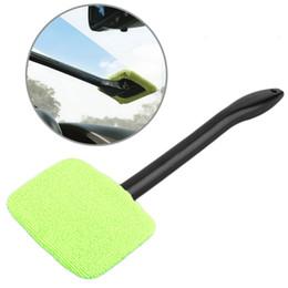 Wholesale Windshield Brush - Multipurpose Long Handle Windshield microfiber Cleaner Wipe Tool Wonder Auto Car House Window Glass Wiper Cleaner Tool