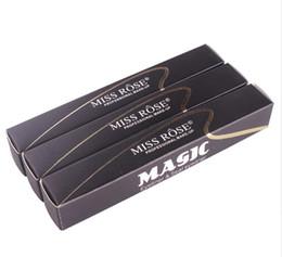 Wholesale full eyeliner - New Miss Rose Brand Eyes Liner Liquid Make Up Pencil Waterproof Black Double-ended Makeup Stamps Eyeliner Pencil