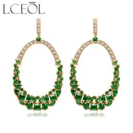 Wholesale Unique Shine - Luxurious Earrings Unique Design Hot Shining Clear Zircon Crystal Cluster Drop Earrings for Women Fashion Jewelry Brincos
