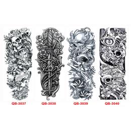 20Pcs Cool Metal Tattoos Men Women Tattoo Sleeve Arm Waterproof Temporary Tattoos Transferable Stickers Body Art Flash Tattoo от Поставщики татуировка кисти запястья