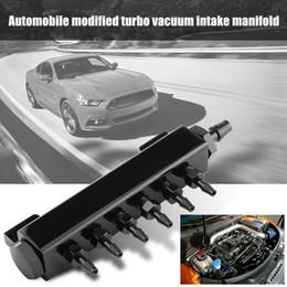 turbo wastegate Rabatt Auto Vakuum Ansaugkrümmer Aluminium Turbo Wastegate Vakuum Ansaugkrümmer 6 Ports 1/8 NPT Auto Modifikationen