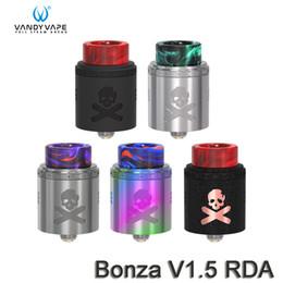 Autentico rda vape online-Vandy Vape Bonza V1.5 RDA 24mm Diametro Dual AFC Opzioni Atomizzatore Top Cap Sistema di blocco 100% autentico sigaretta elettronica atomizzatori fai da te