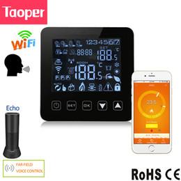 Pavimenti riscaldati online-Termostato programmabile WiFi Echo Alexa Controllo vocale Riscaldamento a pavimento elettrico Controllo della temperatura ambiente 16A 100-240V