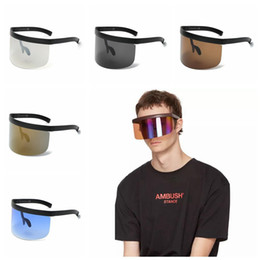 Wholesale Face Shapes Glasses - Oversized Mask Shape Shield Style Sunglasses Cool Street Snap Sun Glasses Cover Face Sunglasses Goggles OOA4671