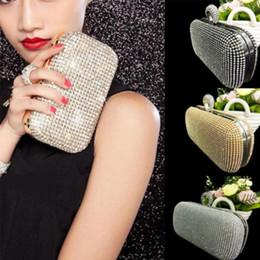 Wholesale Diamante Clutch Bags - Women Glitter Shimmer Evening Party Handbags Coin Card Holder single shoulder strap clutch hand Bag diamond ring ladies wallet bag