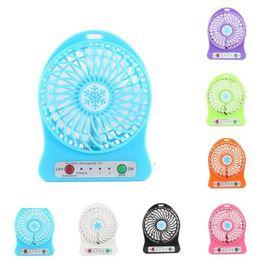Wholesale Mini Pc Fans - Portable Mini USB Fan summer Desk Pocket Handheld Air Rechargeable 18650 Battery Cooler For Maternity kids toys GGA320 20pcs