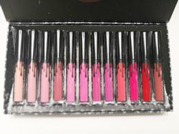Labios liquidos online-Liquidación de inventario Llévame en vacaciones, envíame más nude, 12 colores, kit de lápices labiales líquidos mate Kelly Cosmetics 12pcs Lipgloss Lip Gloss Set