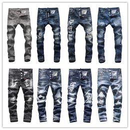 Wholesale Flannel Trousers - 2018 Italian brand men's jeans 2018 new fashion high quality men's designer classic jeans luxury brand trousers Men's fashion jeans #6001