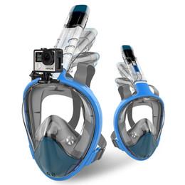 tubo de respiração de máscara de natação Desconto 2018 New Full Face Snorkel Máscara De Mergulho Dobrável Anti Fog Máscara de Snorkel À Prova D 'Água Tubo de Respiração de Natação Equipamento de Mergulho Livre