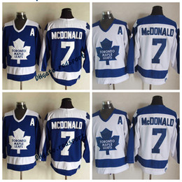 Wholesale Vintage Shirts Xxl - Throwback Toronto Maple Leafs Lanny McDonald Hockey Jersey Vintage #7 Lanny McDonald Blue White Stitched Jersey Shirts Embroidery A Pacch