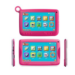 "Wholesale Google Android Tablets - NEW Kids Brand Tablet PC 7"" Quad Core children tablet Android 4.4 Allwinner A33 8GB google player wifi + big speaker + protective cover"