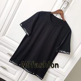 Wholesale Print Star - 18ss Luxury Europe Paris High quality Band Satin Jersey Tshirt Fashion Men Women Star Print T Shirt Casual Cotton Tee Top