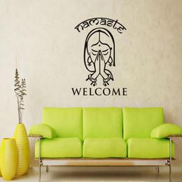 decorazione parete di benvenuto Sconti Adesivo da parete rimovibile Impermeabile nella vita Home Stickers Benvenuto Namaste Vinile Arte Soggiorno Arredamento Yoga Studio Decor 9 7dc ff