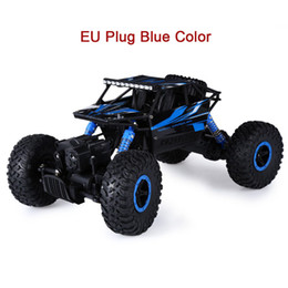 Wholesale 4x4 Vehicles - Hot RC Car 4WD 2.4G 4WD 4x4 Driving Rock Crawlers Car Double Motors Drive Bigfoot Cars Remote Control Model Off-Road Vehicle Toy