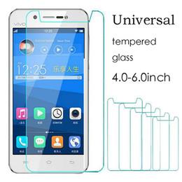Evrensel 4.5 4.7 5.0 5.3 ALCATEL WIKO Için Gerçek Temperli Cam Filmi Ekran Koruyucu Geçirmez cheap universal screen protectors nereden evrensel ekran koruyucuları tedarikçiler