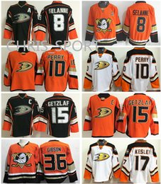Wholesale Hockey Jersey Kesler - Anaheim Ducks premier hockey jerseys #8 Teemu Selanne 15 Ryan Getzlaf 17 Ryan Kesler 10 Corey Perry 36 John Gibson custom game jersey