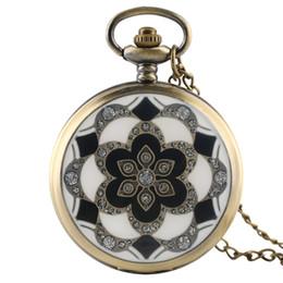 Orologi meccanici a vento online-Orologi da infermeria orologi da tasca meccanici di lusso stile verde cristallo fine wind up orologi da donna per le signore regali