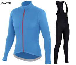 Wholesale cycling wear winter xs - 2018 Pro Team Winter Cycling Jersey Sets MTB Bike Clothing Ropa Ciclismo Bike Wear Clothes Mens Maillot Culotte