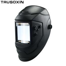 Maschere per la saldatura online-Big View Eara 4 Sensori Arc DIN5-DIN13 Auto oscuranti solari TIG MIG MMA Saldatura Maschera / Casco / Saldatore / Lente / Maschera / Occhiali