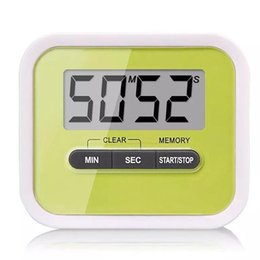 Wholesale Countdown Timer Display - LCD Digital Timer Kitchen Cooking Countdown LCD Display Timer Clock Alarm With Magnet Stand Clip Free Shipping 200pcs
