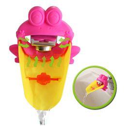 Grifo t online-Lovely Cartoon KidsCare Faucet Funny Frog / cangrejo Extender Faucet para bebé ayudante de lavado de manos infantil baño niños accesorios